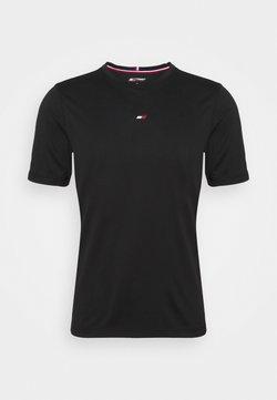 Tommy Hilfiger - MOTION FLAG TRAINING TEE - T-Shirt basic - black