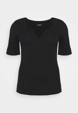 Simply Be - NOTCH HALF SLEEVE - Camiseta estampada - black