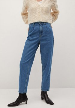 Mango - Jeansy Relaxed Fit - middenblauw