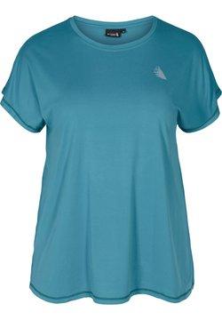 Active by Zizzi - T-Shirt basic - light blue