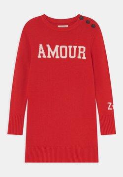 Zadig & Voltaire - LONG SLEEVED DRESS - Stickad klänning - bright red