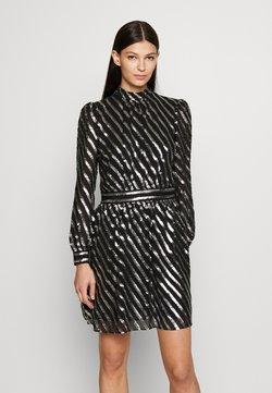 MICHAEL Michael Kors - MOCK NECK - Cocktail dress / Party dress - black/silver