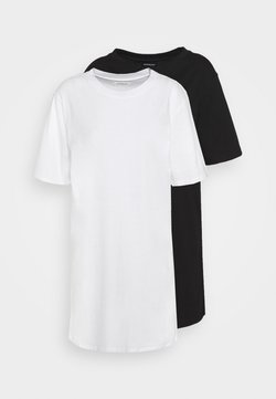 Even&Odd - 2 PACK - Jerseykleid - white/black
