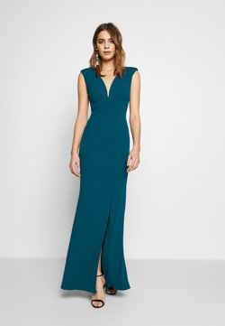 WAL G. - FITTED V KNECK MAXI - Ballkleid - teal