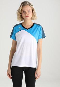 Erima - T-Shirt print - white/curacao/blau
