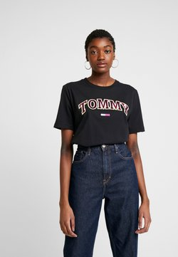 Tommy Jeans - NEON COLLEGIATE TEE - Camiseta estampada - black