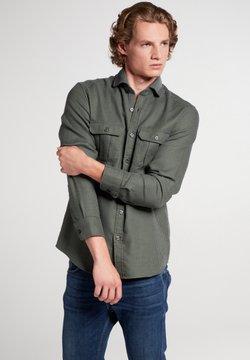 Eterna - SLIM FIT - Hemd - oliv/blau