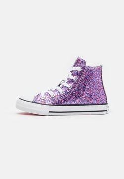Converse - CHUCK TAYLOR ALL STAR COATED GLITTER - Korkeavartiset tennarit - bold pink/white/black