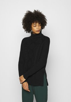 GAP - CABLE TURTLENECK - Stickad tröja - true black