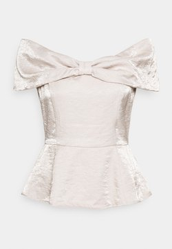 Who What Wear - BOW TOP - T-shirt con stampa - quartz