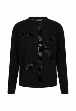 Calvin Klein - LEOPARD CNECK - Sweatshirt - ck black