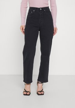 NA-KD Petite - HIGH WAIST - Jeans relaxed fit - black