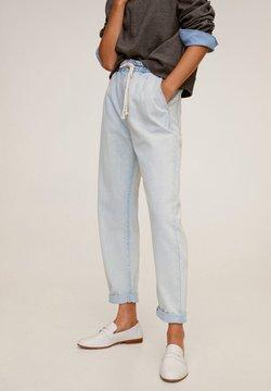 Mango - JEANS MIT STRETCHBUND UND KORDEL - Jeans Relaxed Fit - hellblau