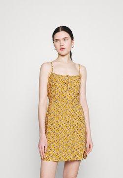 Hollister Co. - BARE DRESS - Freizeitkleid - yellow floral