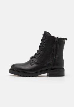 Carmela - LADIES BOOTS  - Schnürstiefelette - black