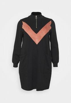 Zizzi - MELUNA DRESS - Vestido informal - black/burlwood