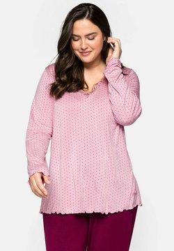Sheego - Nachtwäsche Shirt - rosé bedruckt