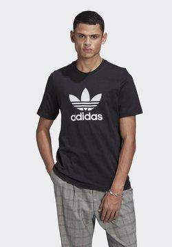 adidas Originals - TREFOIL UNISEX - Printtipaita - black/white