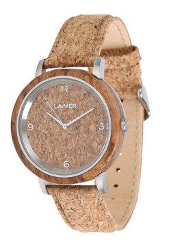 LAIMER - LAIMER QUARZ HOLZUHR - ANALOGE ARMBANDUHR JOERG - Uhr - ocher