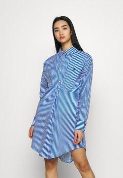 River Island - DAYNA ADJUST DRESS - Shirt dress - blue
