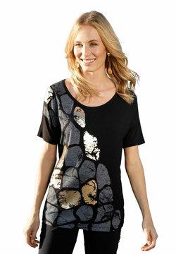 Amy Vermont - T-Shirt print - schwarz,grau,goldfarben