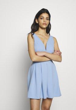 WAL G PETITE - EXCLUSIVE V NECK MINI DRESS - Vestido ligero - pale blue