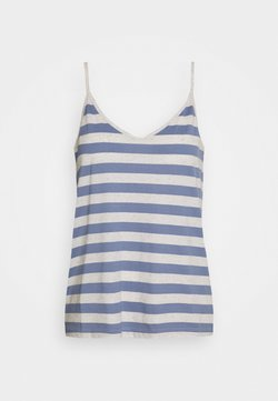 Selected Femme - SLFIVY  V NECK STRAP - Top - country blue/white