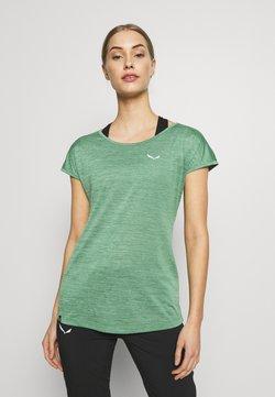 Salewa - PUEZ DRY TEE - T-Shirt basic - feldspar green melange