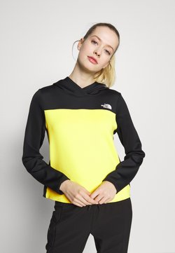 The North Face - WOMENS ACTIVE TRAIL SPACER - Funktionsshirt - black/lemon