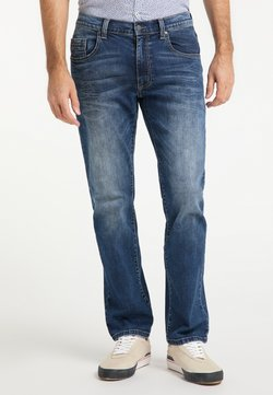 Pioneer Authentic Jeans - RANDO AUTHENTIC LINE - Straight leg jeans - blue-black denim