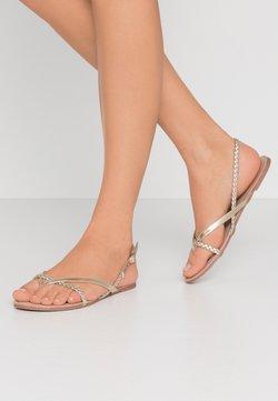 ONLY SHOES - ONLMARGIT BRAID SPLIT TOE  - Sandalias de dedo - gold