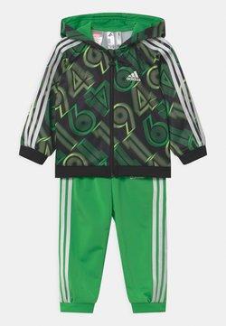adidas Performance - SHINY SET UNISEX - Verryttelypuku - green, black