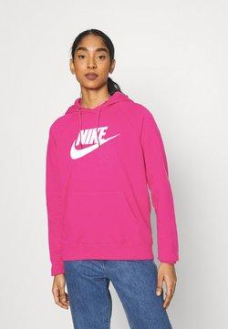 Nike Sportswear - HOODIE - Felpa con cappuccio - fireberry/white