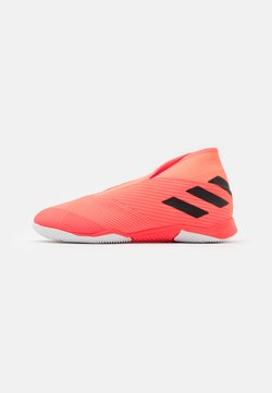 adidas Performance - NEMEZIZ 19.3 FOOTBALL SHOES INDOOR - Indoor football boots - signal coral/core black/solar red