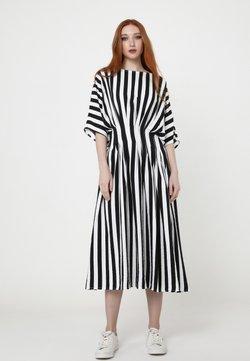 Madam-T - Freizeitkleid - schwarz, weiß
