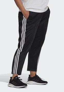 adidas Performance - ADIDAS SPORTSWEAR WRAPPED 3-STRIPES SNAP PANTS (PLUS SIZE) - Jogginghose - black
