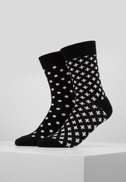 Happy Socks - DOT PLUS 2 PACK - Chaussettes - black