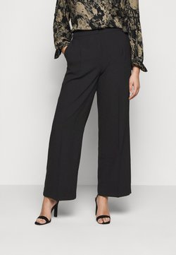 Selected Femme Curve - SLFDINNI WIDE PANT - Broek - black