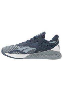 Reebok - NANO X - Sportschoenen - metallic grey/indigo/white