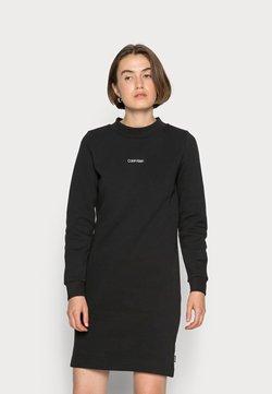 Calvin Klein - MINI CALVIN KLEIN SWEATDRESS - Vestido ligero - black