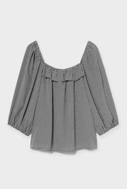 C&A - Bluse - black / gray