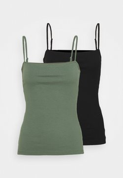Anna Field - 2 PACK - Top - black/green