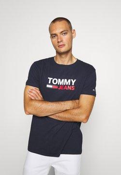 Tommy Jeans - CORP LOGO TEE - T-shirt imprimé - twilight navy