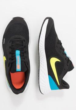 Nike Performance - REVOLUTION 5 UNISEX - Juoksukenkä/neutraalit - black/lemon/laser blue/hyper crimson/white