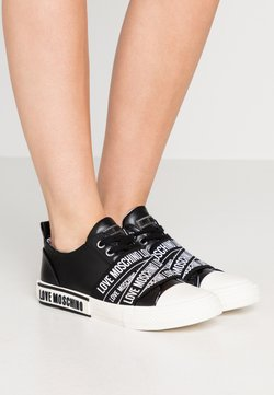 Love Moschino - LABEL SOLE - Sneakers laag - black