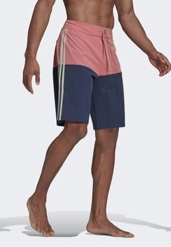 adidas Performance - Knee-Length Colorblock Board Shorts - Szorty kąpielowe - pink