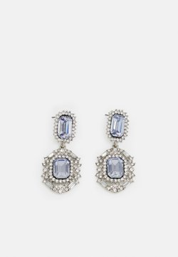 Pieces - PCMELANY EARRINGS - Pendientes - silver-coloured/clear/blue