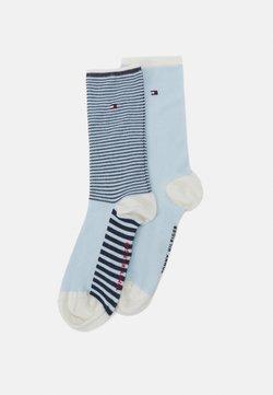 Tommy Hilfiger - WOMEN SOCK SUMMER STRIPE 2 PACK - Socken - white