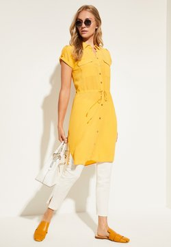 comma - KURZARM - Blusenkleid - yellow