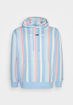 Tommy Jeans Plus - PLUS STRIPE HOODIE - Sweatshirt - light powdery blue